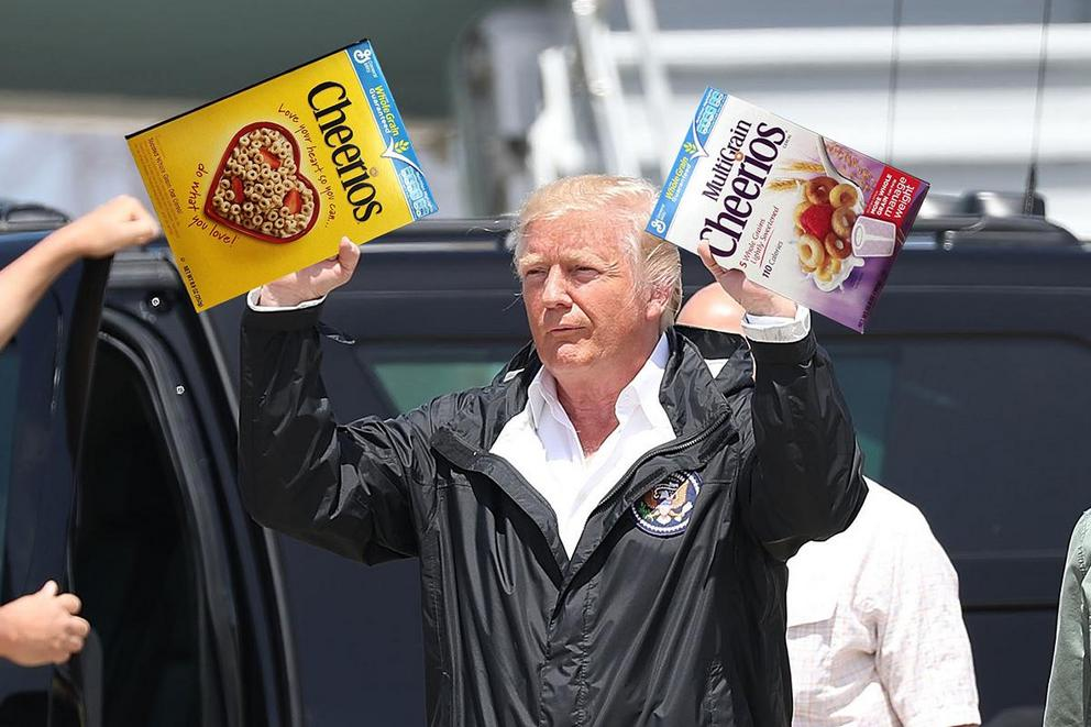 Has President Trump ever purchased a box of cereal for himself?