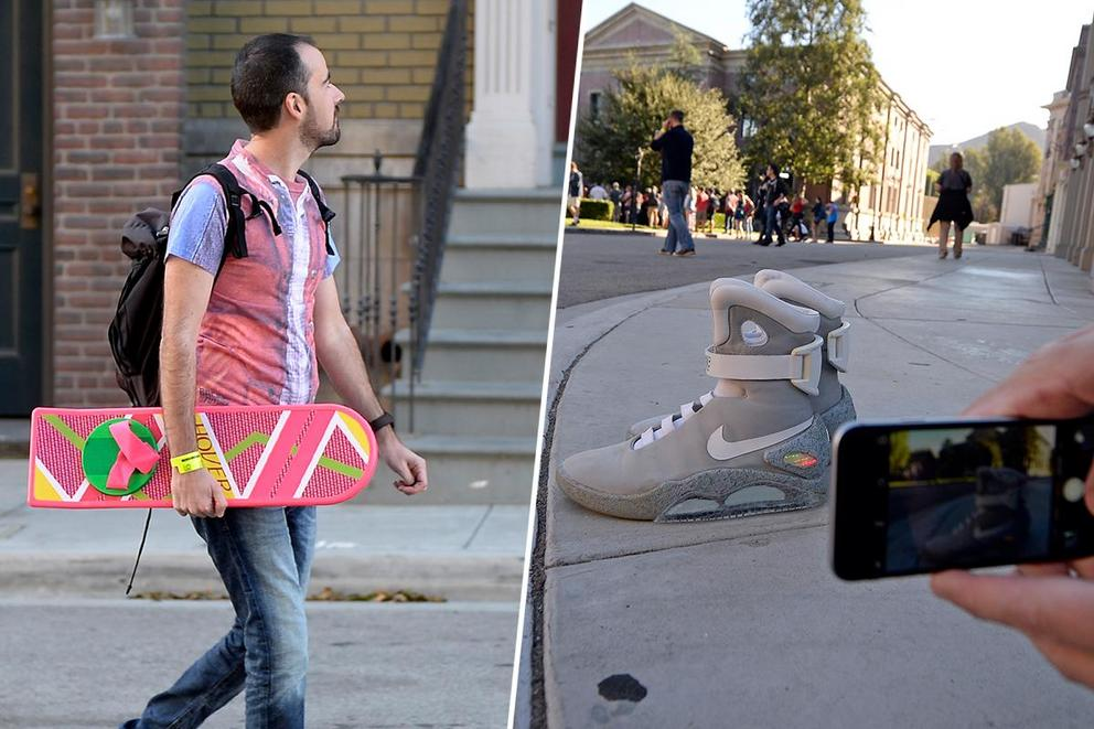 Best invention from 'Back to the Future Part II': hoverboard or self-lacing shoes?