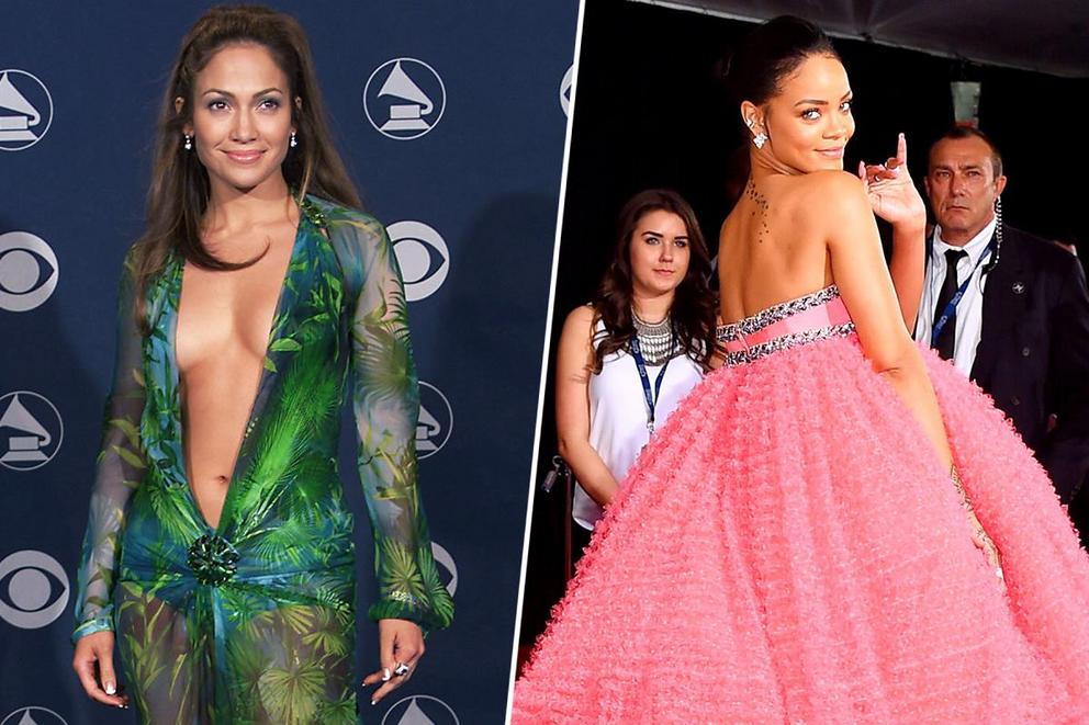 Best dressed at the Grammys of all time: Jennifer Lopez or Rihanna?