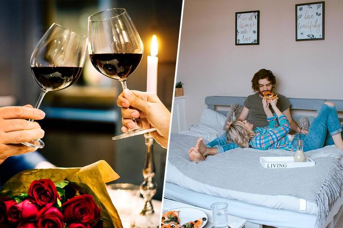 Best way to celebrate Valentine's Day–a romantic evening out or a cozy night in?