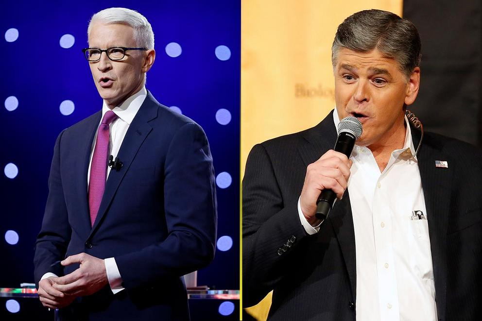 Who gave the best political rant of 2017: Anderson Cooper or Sean Hannity?