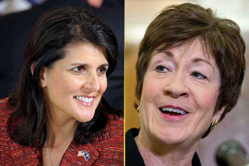 Who should be the first female president: Nikki Haley or Susan Collins?
