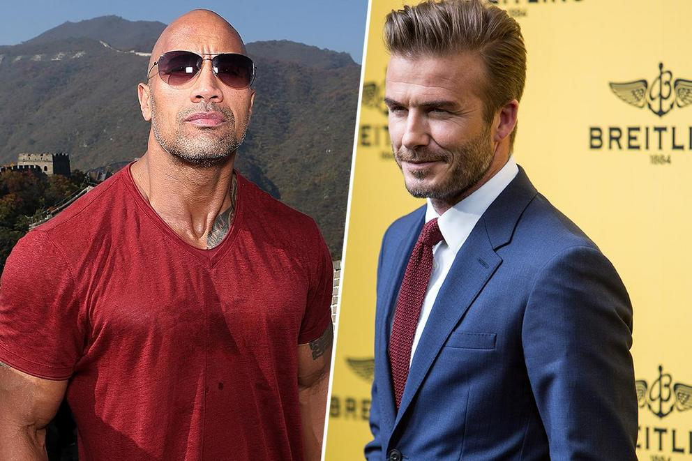 Who's sexier: Dwayne Johnson or David Beckham?