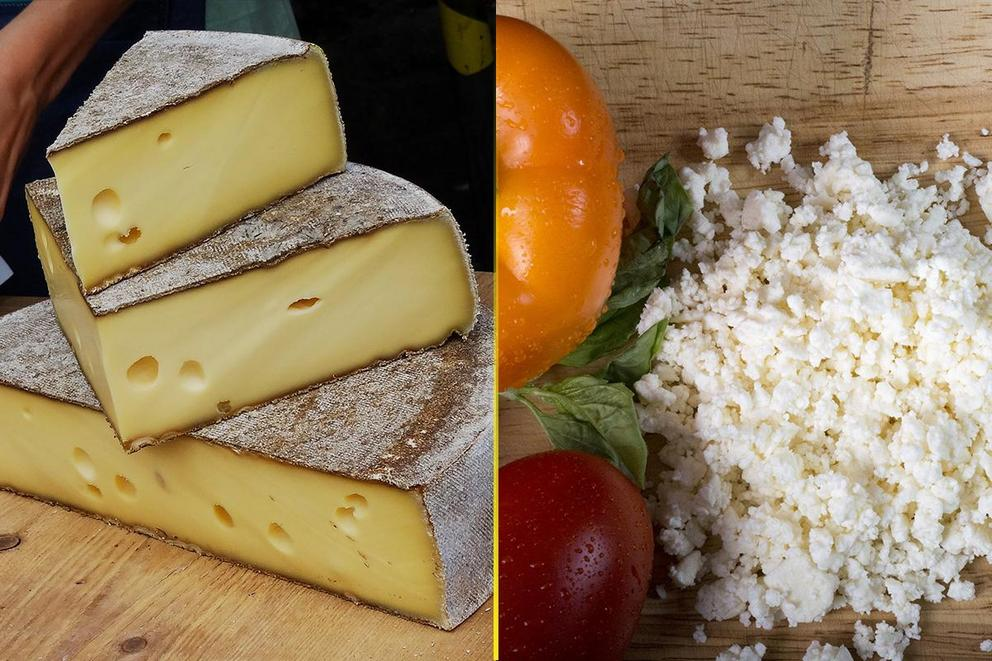 Which cheese is better: Swiss cheese or feta?