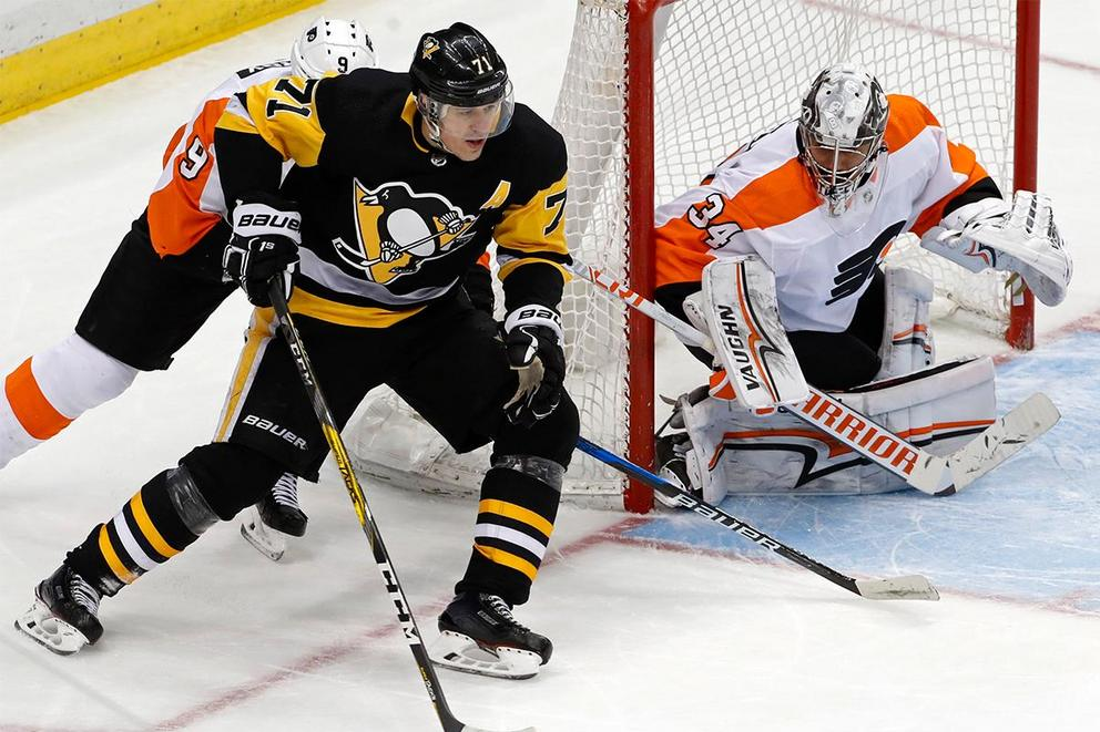 Which team will survive the first round of NHL playoffs: Pittsburgh Penguins or Philadelphia Flyers?