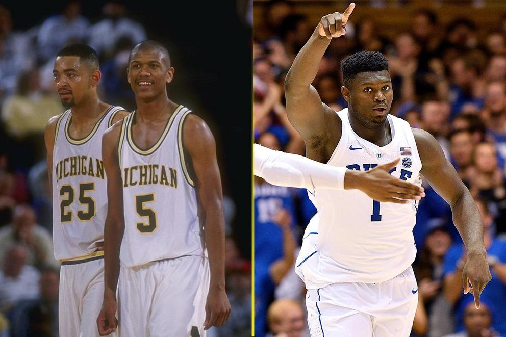 Who would win in a pick-up game: Michigan's Fab Five or the 2018 Duke Squad?