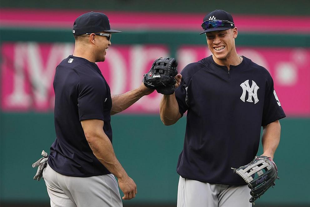 Who will crush more home runs for the Yankees: Aaron Judge or Giancarlo Stanton?