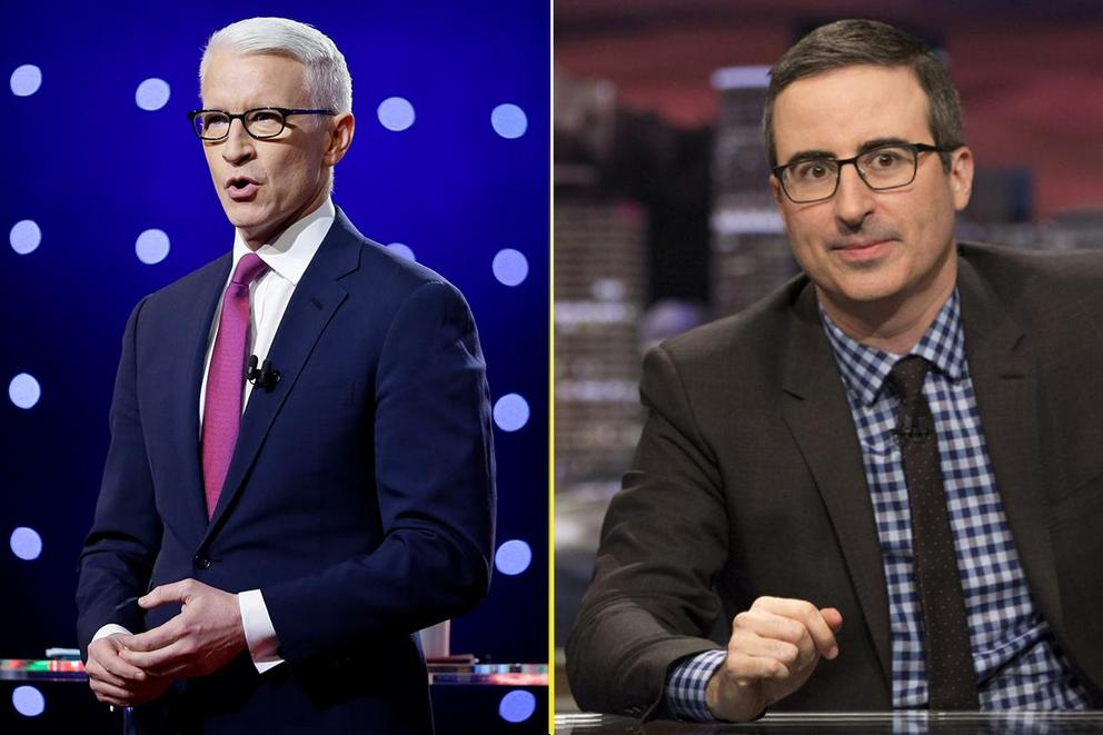 Who gave the best political rant of 2017: Anderson Cooper or John Oliver?