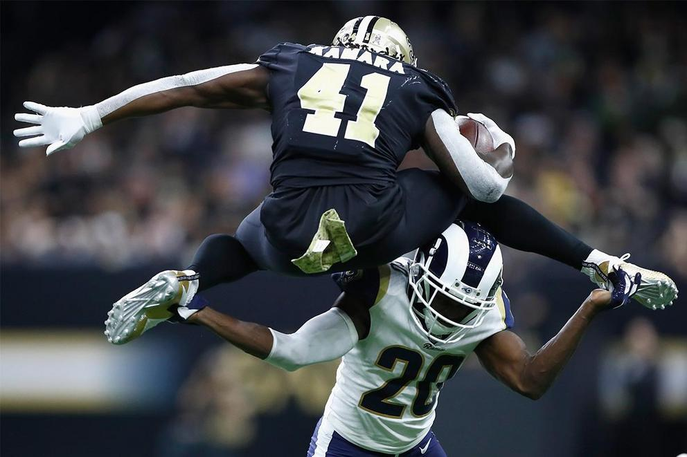 Which team has the best odds of reaching the Super Bowl: Saints or Rams?