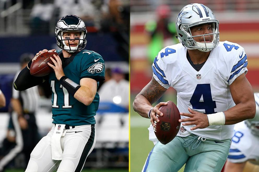 Which NFL quarterback would you rather have on your team: Carson Wentz or Dak Prescott?