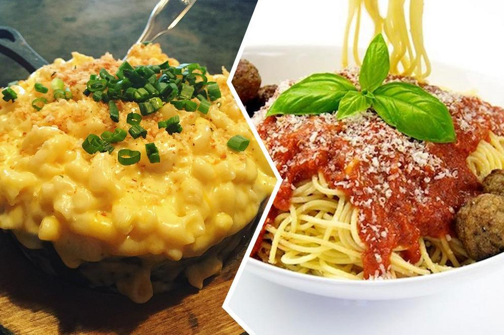 Which popular pasta dish is better: Mac and cheese or spaghetti?