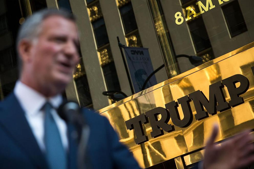 Who's the better New York politician: Bill de Blasio or Donald Trump?