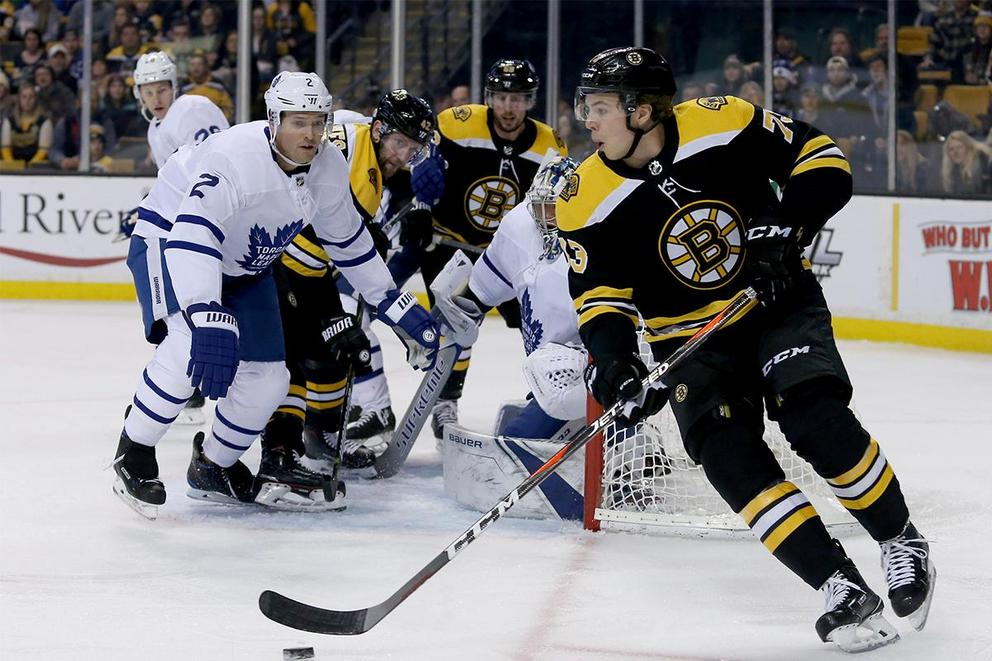 Which team will survive the first round of NHL playoffs: Boston Bruins or Toronto Maple Leafs?