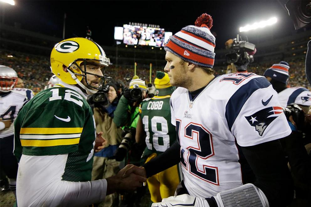 Which quarterback would you rather have: Tom Brady or Aaron Rodgers?