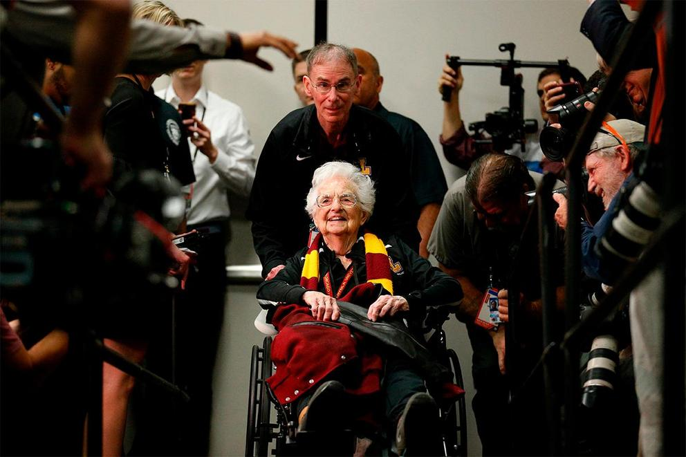 Is Sister Jean stealing the spotlight from the Loyola-Chicago basketball team?