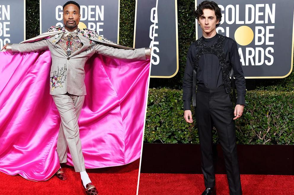 Best-dressed man at the 2019 Golden Globes: Billy Porter or Timothée Chalamet?