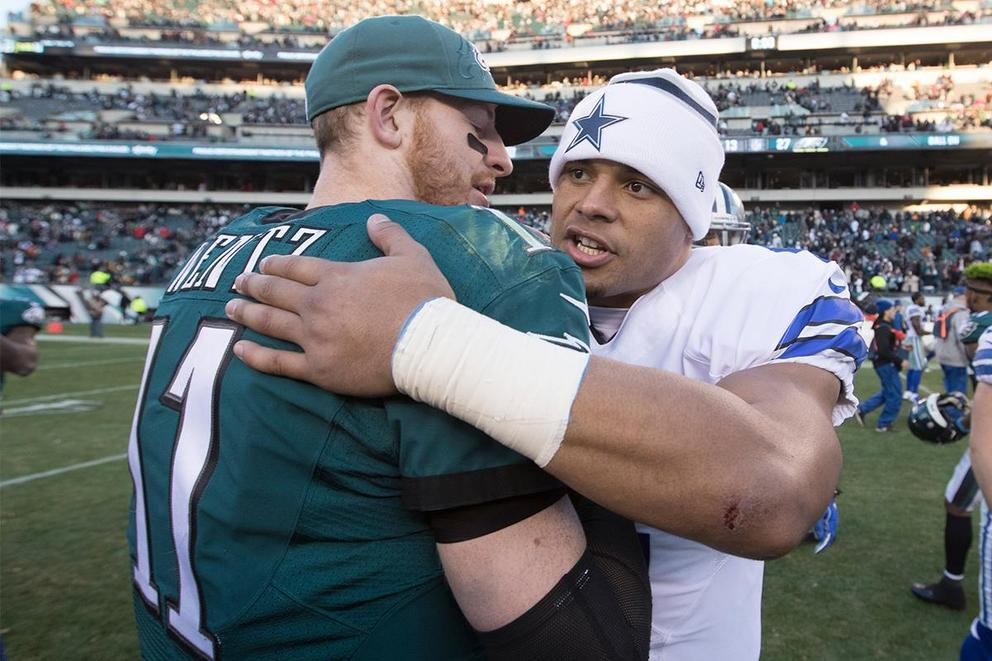 Which NFL quarterback would you rather have: Carson Wentz or Dak Prescott?