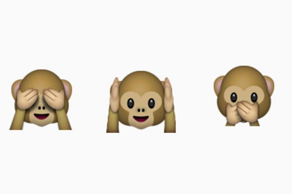 Is this emoji one monkey making three faces, or three monkeys next to each other?