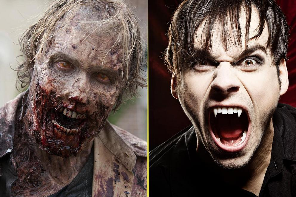 What's more terrifying: Zombies or vampires?