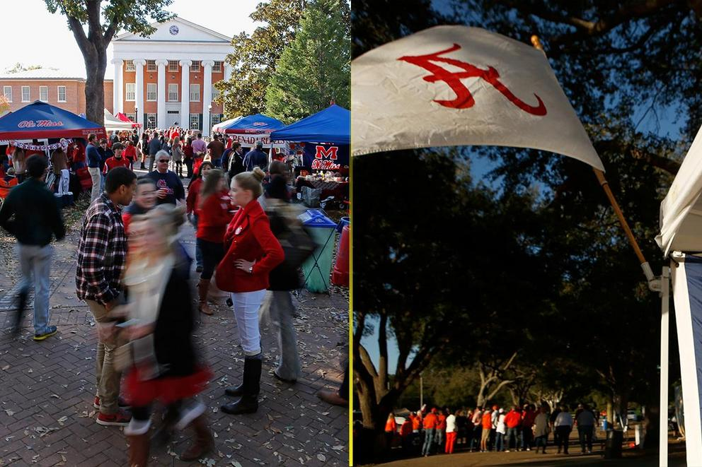 Who has the best tailgate: Ole Miss or Alabama?