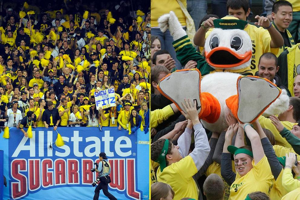 NCAA's Best College Fan Base: Michigan or Oregon?