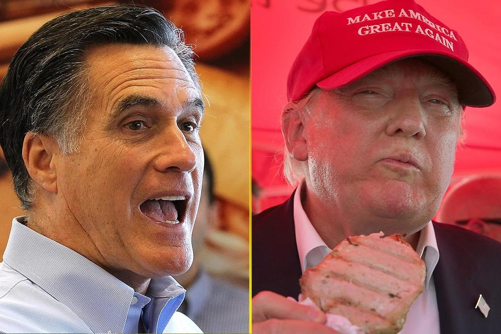 Worst Food Faux Pas: Mitt Romney's hot dogs or Donald Trump's steaks?