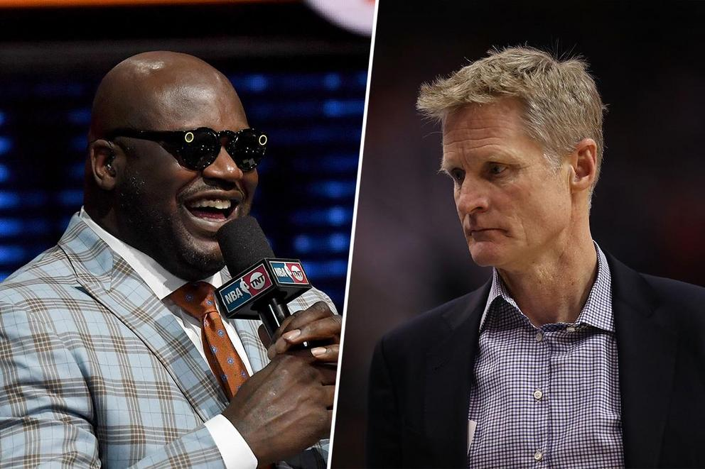 Would you watch Shaquille O'Neal kissing Steve Kerr's feet?