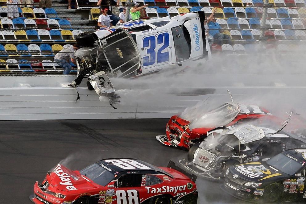 NASCAR drivers walk away from several Talladega Superspeedway crashes