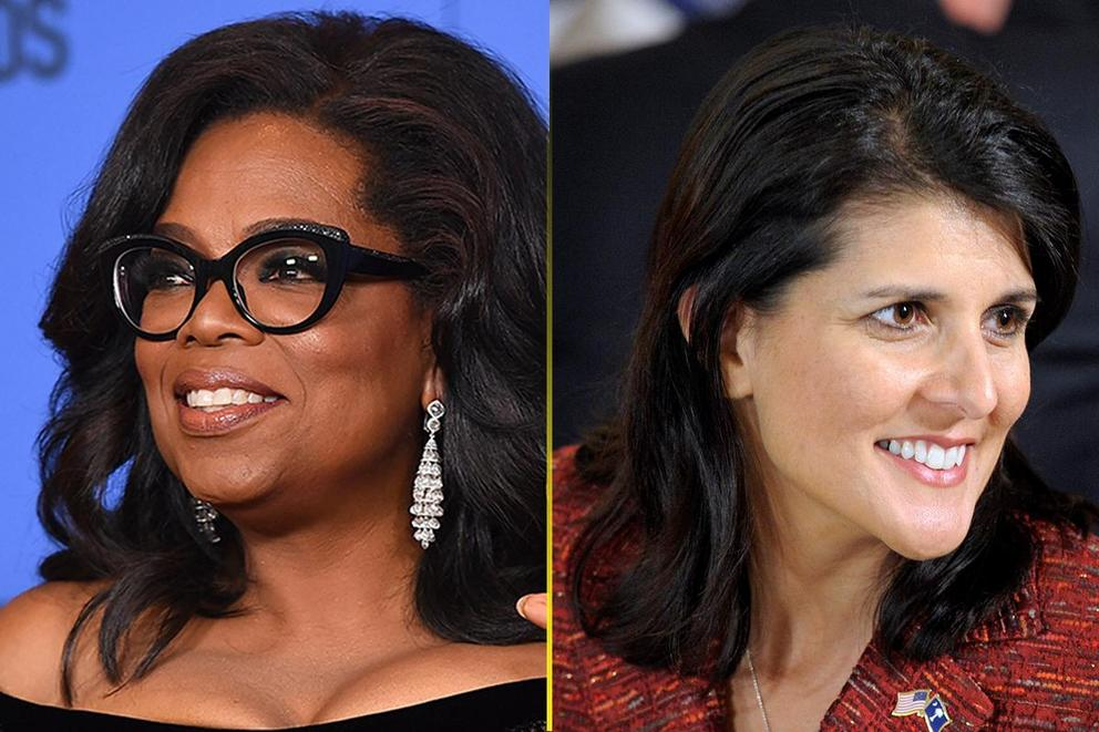 Who should be the first female president: Oprah Winfrey or Nikki Haley?