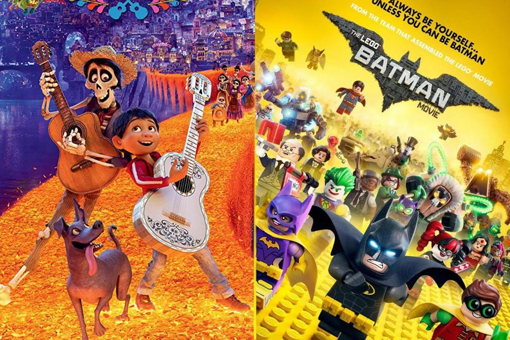 Animated movie of the year: 'Coco' or 'The LEGO Batman Movie'?
