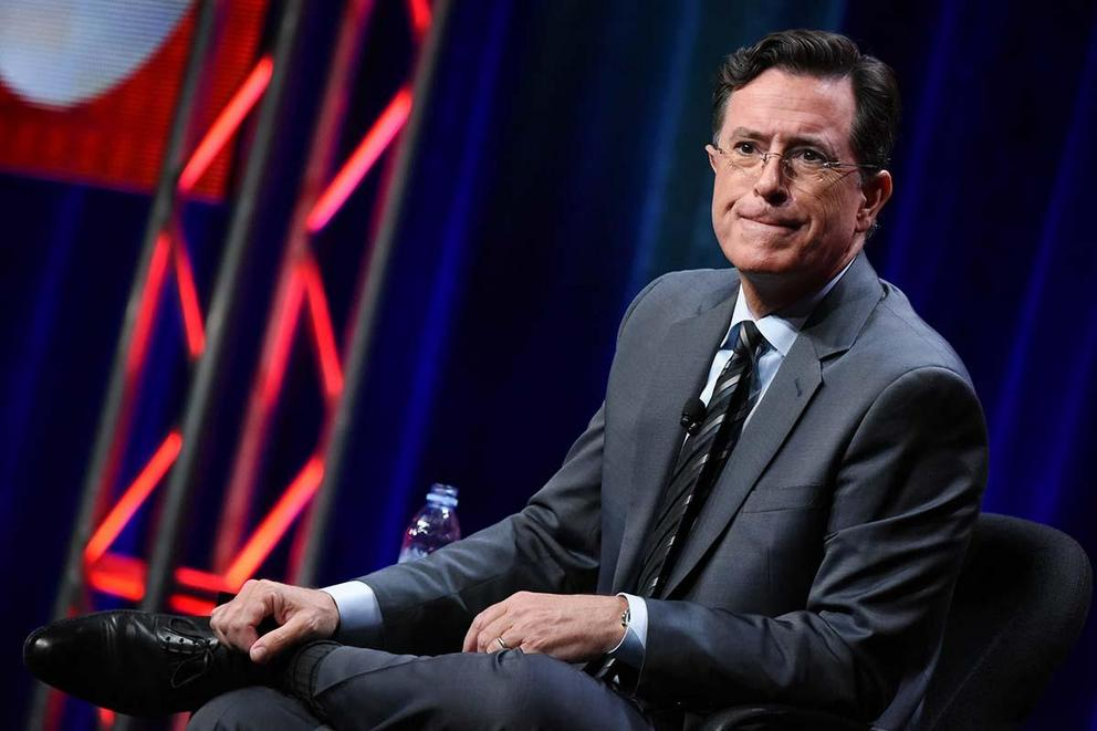 Did Stephen Colbert's Trump slur go too far?