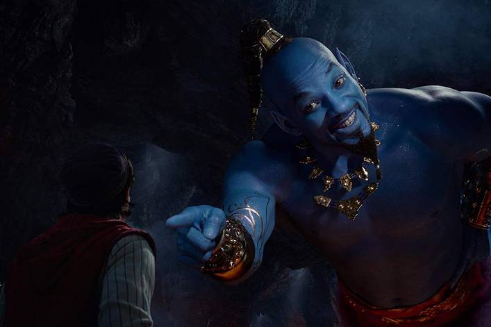 Does Will Smith look terrifying as Genie in 'Aladdin'?