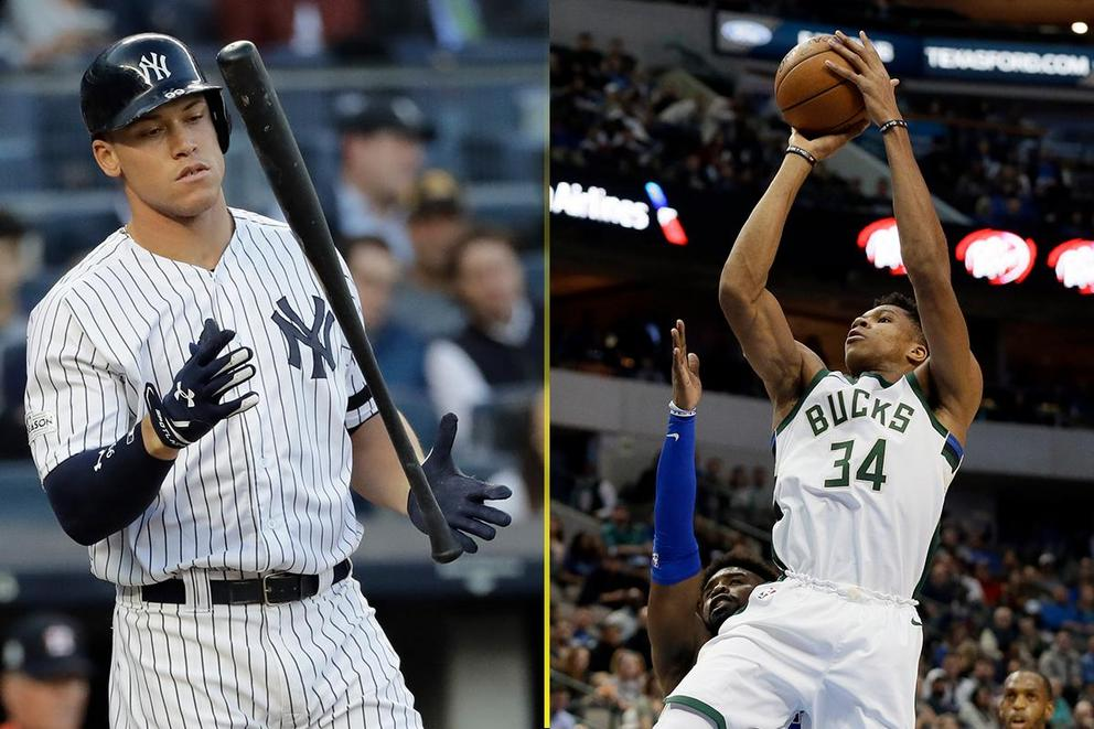 Breakout star of the year: Aaron Judge or Giannis Antetokounmpo?