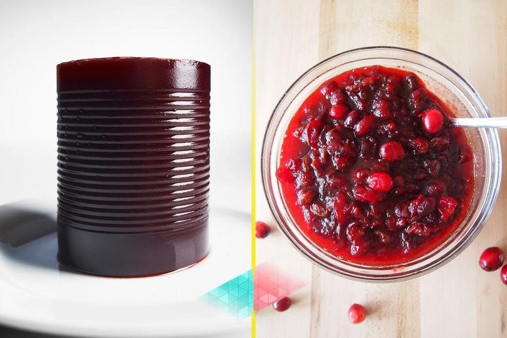 Which cranberry sauce is superior: Canned or homemade?