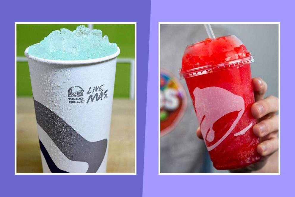 Best Taco Bell beverage: Mountain Dew Baja Blast or Strawberry Skittles Freeze?