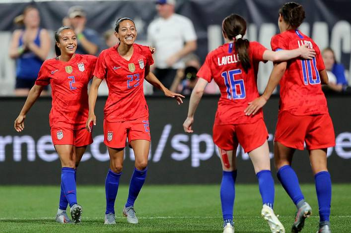 Is the USWNT winning the World Cup?