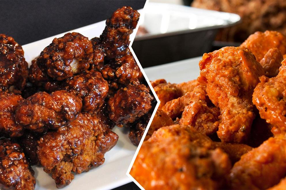 Boneless wings or bone-in wings?