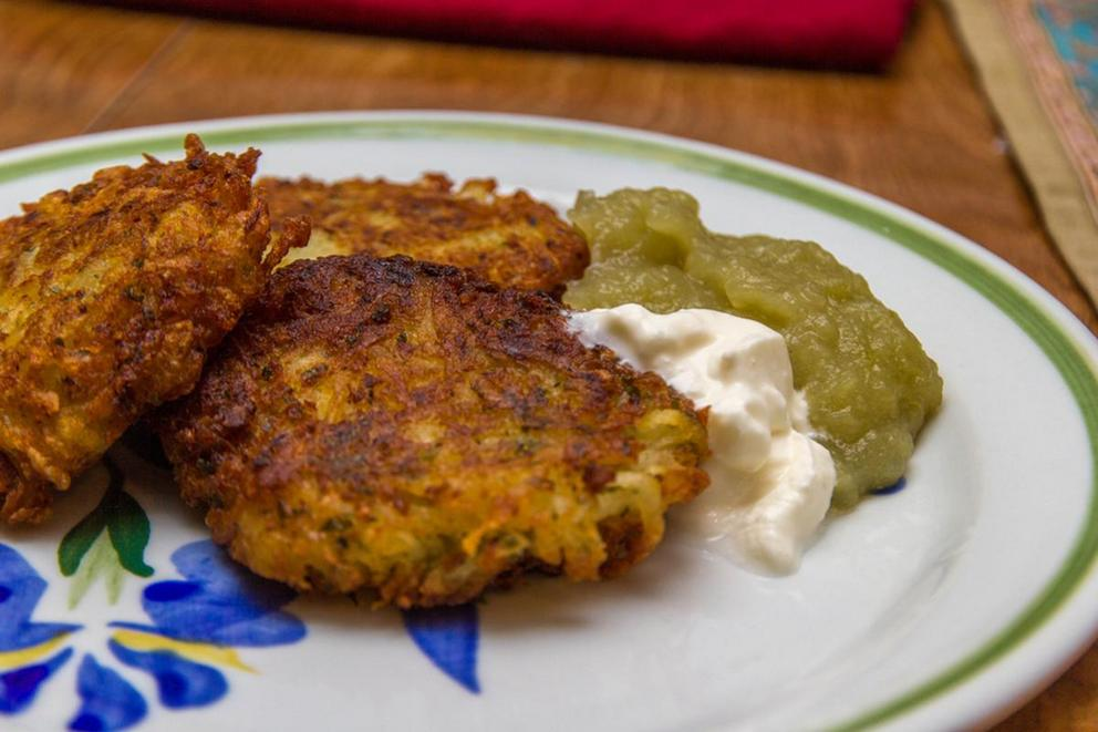 Best topping for latkes—applesauce or sour cream?