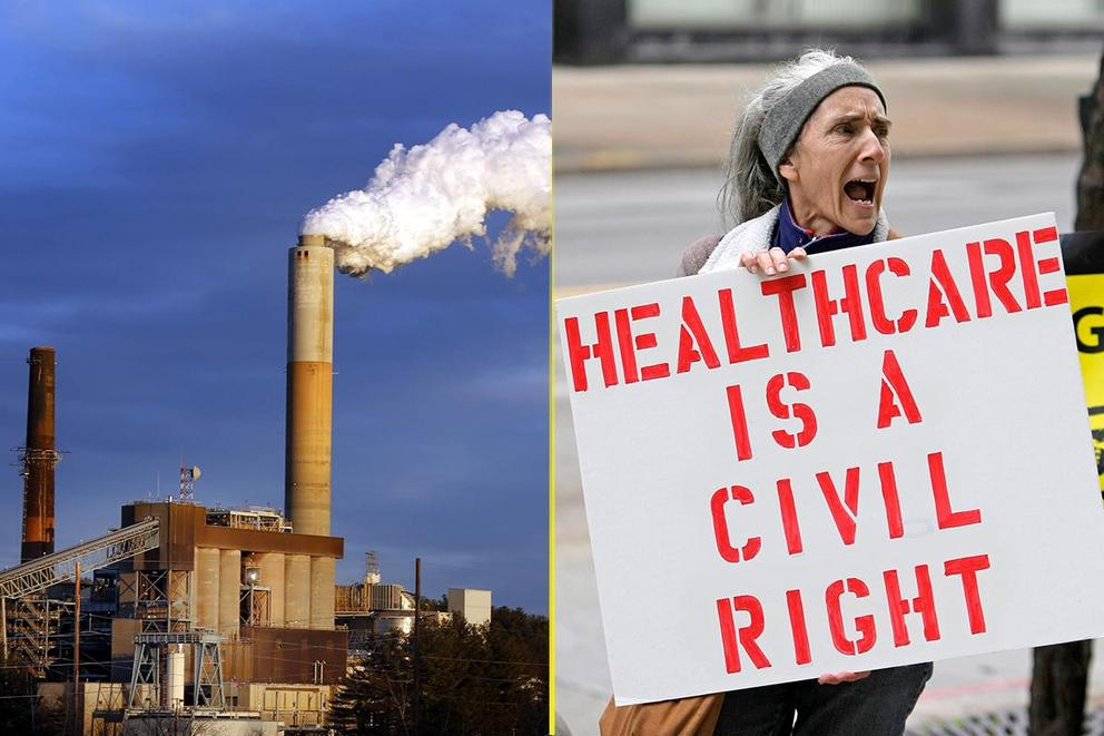 Most important issue of 2018: Climate change or healthcare?