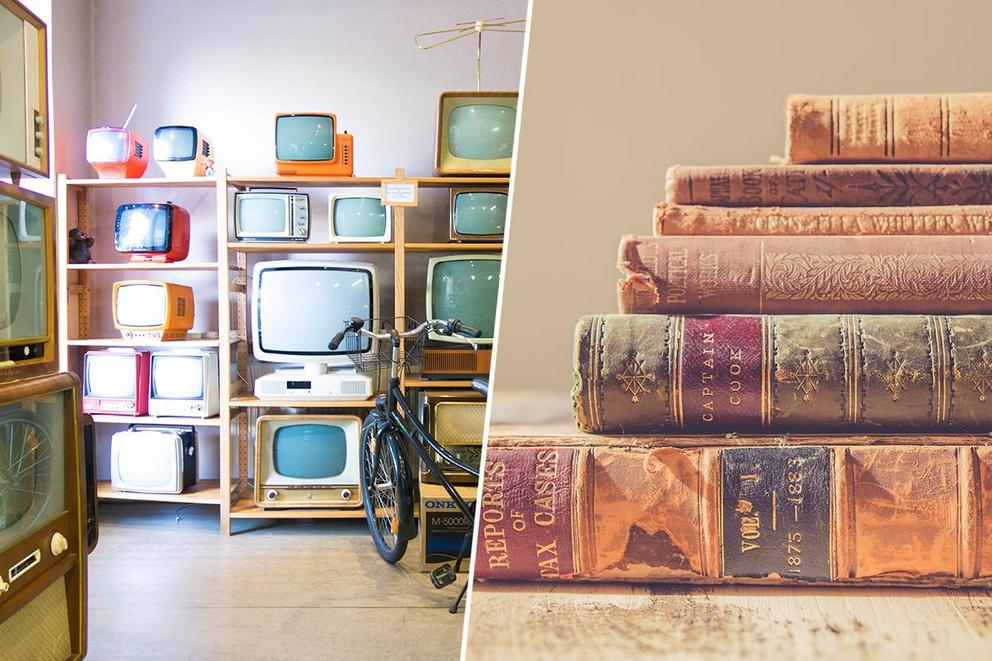 Best way to pass the time: watching TV or reading books?