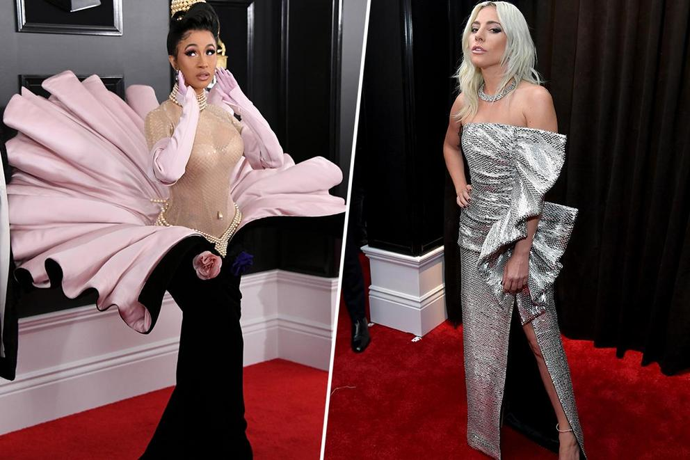 Best-dressed woman at the 2019 GRAMMYs: Cardi B or Lady Gaga?