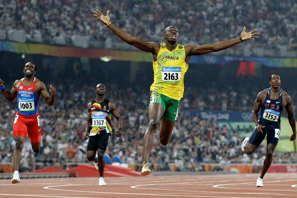 Usain Bolt's most impressive world record in 2008: 100m or 200m?