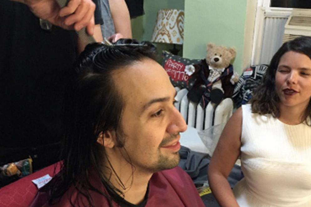 Lin-Manuel Miranda cut off his famous ponytail. Do you like it?