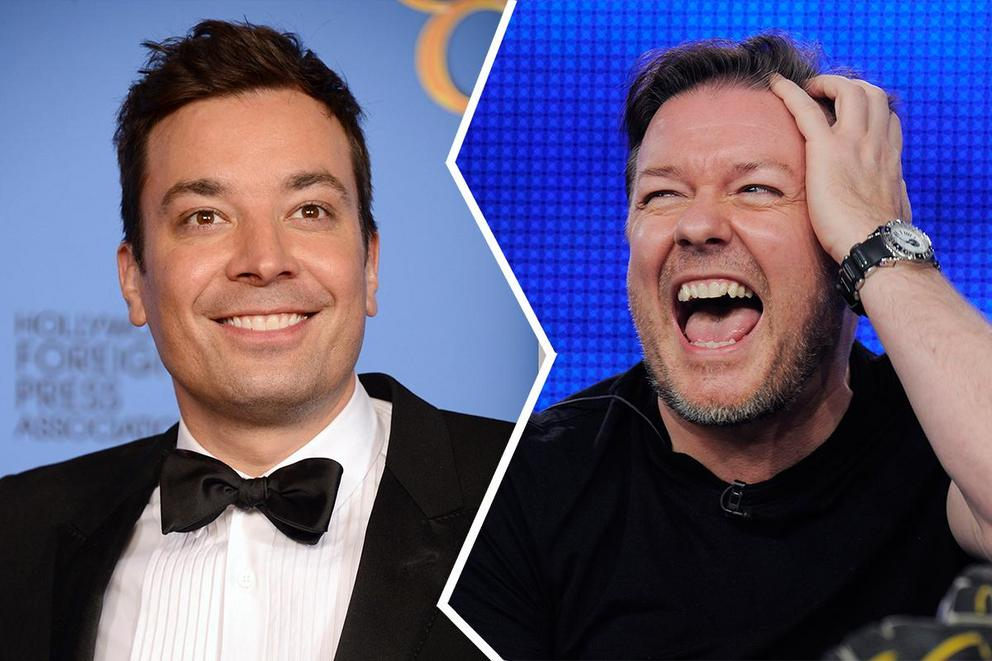 Would you rather see Jimmy Fallon or Ricky Gervais host the Golden Globe?