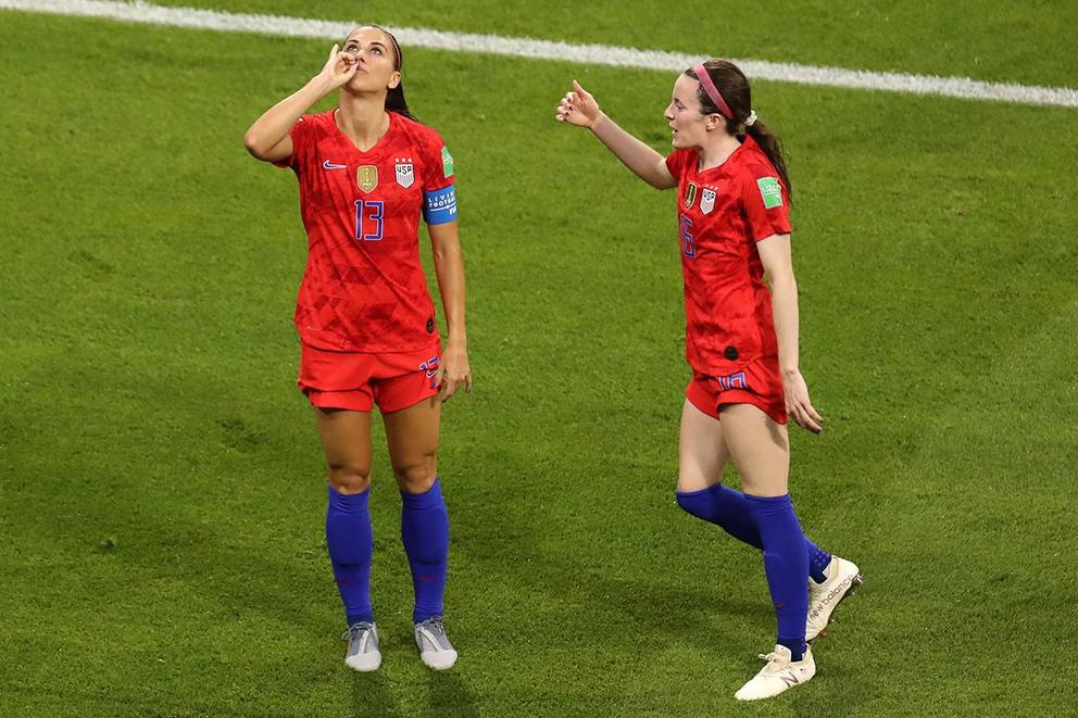 Was Alex Morgan's tea celebration disrespectful?