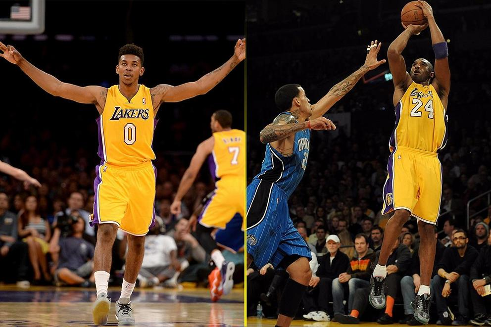 Best NBA GIF: Nick Young's miss or Kobe Bryant's non-reaction?