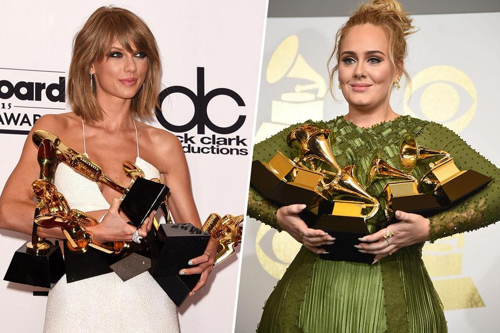 Who's going to be crowned Billboard Artist of the Decade: Taylor Swift or Adele?