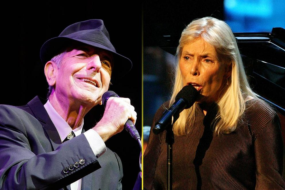 Which folksinger is more iconic: Leonard Cohen or Joni Mitchell?