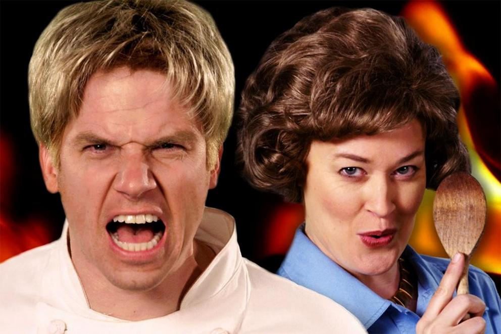 Which chef won this 'Epic Rap Battle' — Gordon Ramsay or Julia Child?