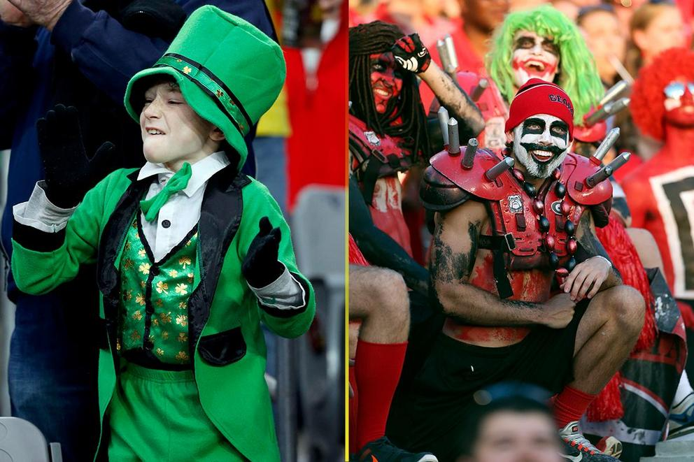 NCAA's Best College Fan Base: Notre Dame or Georgia?